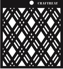 CrafTreat Double Diamond Stencil