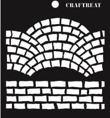 CrafTreat Fancy Bricks Stencil