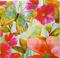 Decoupage Napkin/ Tissue Papers -  Butterfly Background