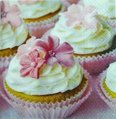Decoupage Napkin / Tissue papers - Pink Cupcakes