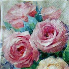 Decoupage Napkin / Tissue papers - Pink Roses