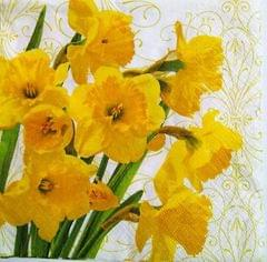 Decoupage Napkin / Tissue papers - Yellow Flowers