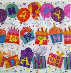 Decoupage Napkin / Tissue papers - Happy B'day