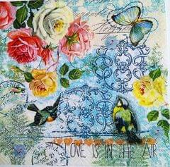 Decoupage Napkin / Tissue papers - Love is in the air