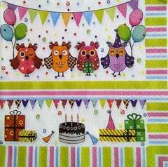 Decoupage Napkin / Tissue papers - Owly