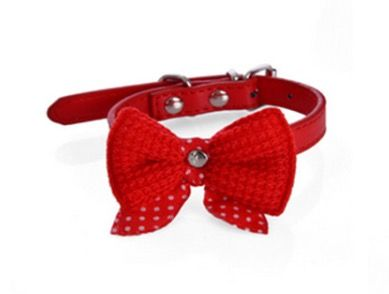 Bowknot Collar - Red - S