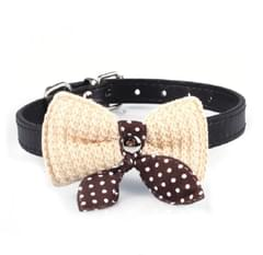 Bowknot Collar - Brown - S