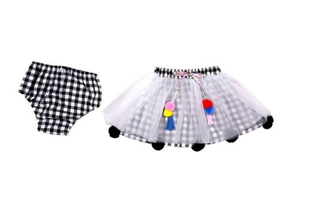 Poppy Skirt Black Check Always Kids