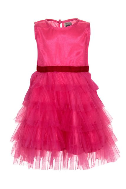 A Little Fable - Pink Frill Dress