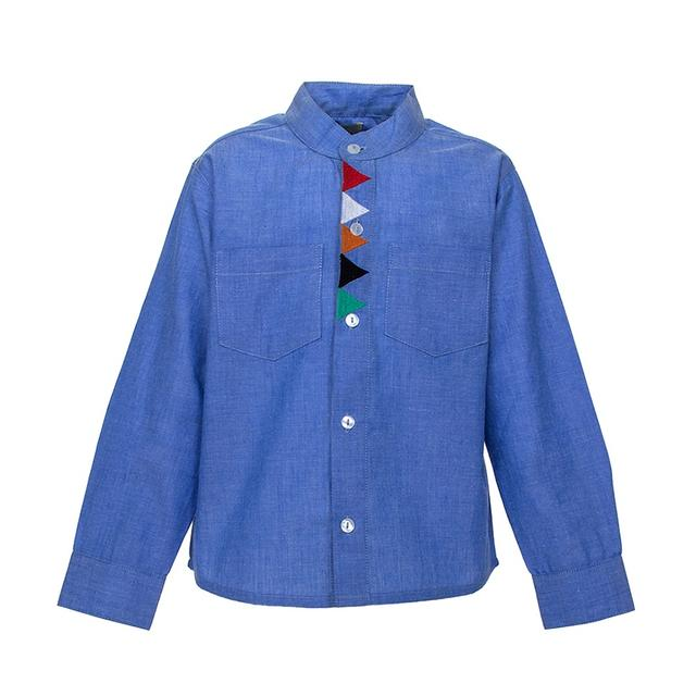 A Little Fable - Blue Triangle Shirt