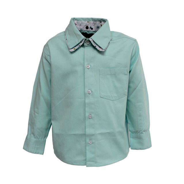 A Little Fable Mint Double Collar Shirt
