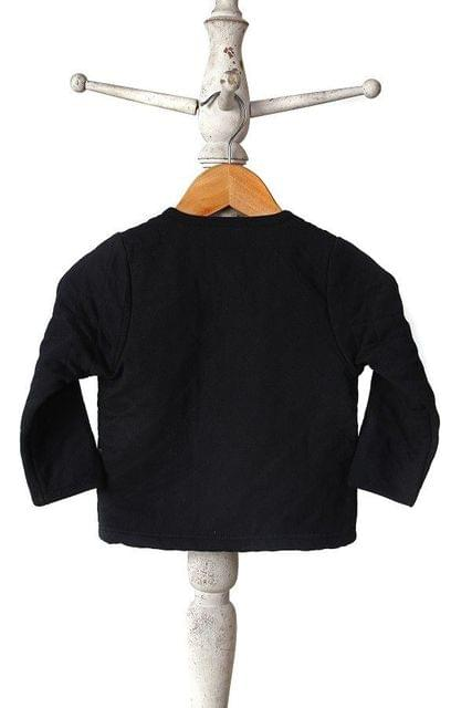 MI DULCE AN'YA black full sleeve quilted jacket for boys and girls-SS15-IG-WC003A-5 Mi Dulce An'ya