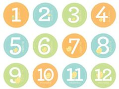 Pearhead-Baby Milestone Stickers Neutral Pearhead