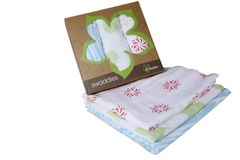 Kaarpas - Premium Baby Swaddles - Green Leaf, Red Celebrations, Blue Zebra Stripes Pack of 3