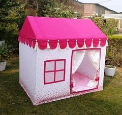 Pink & White Hut Indian Tent
