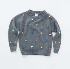 Girls Juggling Ball Sweater Milk Teeth