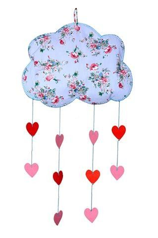Blue Floral Cloud Mobile Always Kids