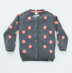 Girls' Polka Cardigan Milk Teeth