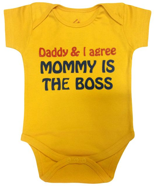 Acute Angle Daddy & I agree moomy is the boss baby romper