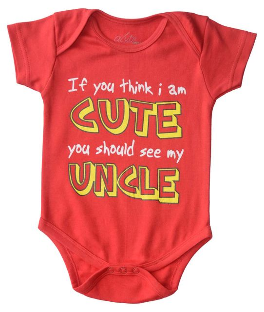 Acute Angle- If you think I am cute you should see my uncle baby romper
