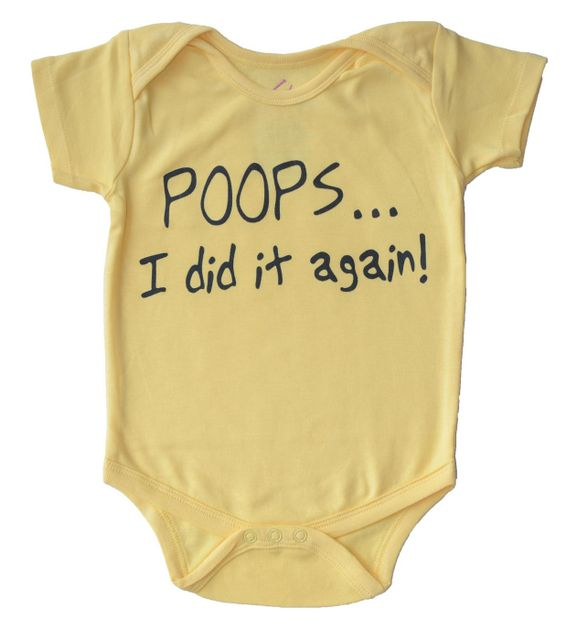 Acute Angle- Poops I did it again- baby romper