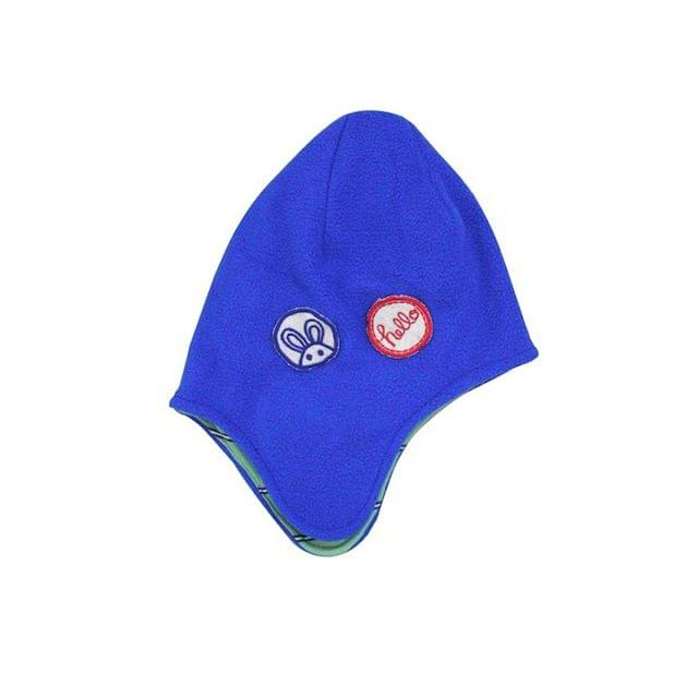 Blue Hello Fleece Cap A Little Fable