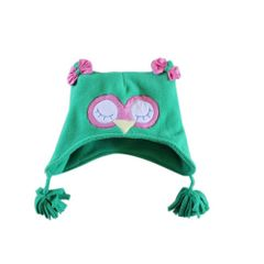 Green Owl Fleece Cap A Little Fable