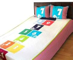 Hopscotch bedsheet A Little Fable