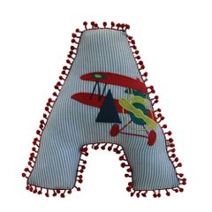 A Little Fable - Alphabet Cushion A-AEROPLANE