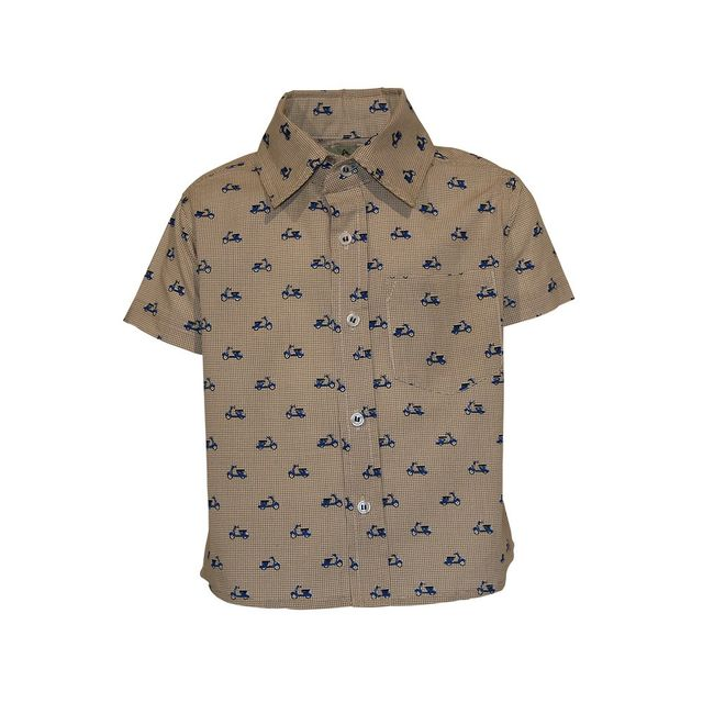 A Little Fable Scooter Beige Shirt