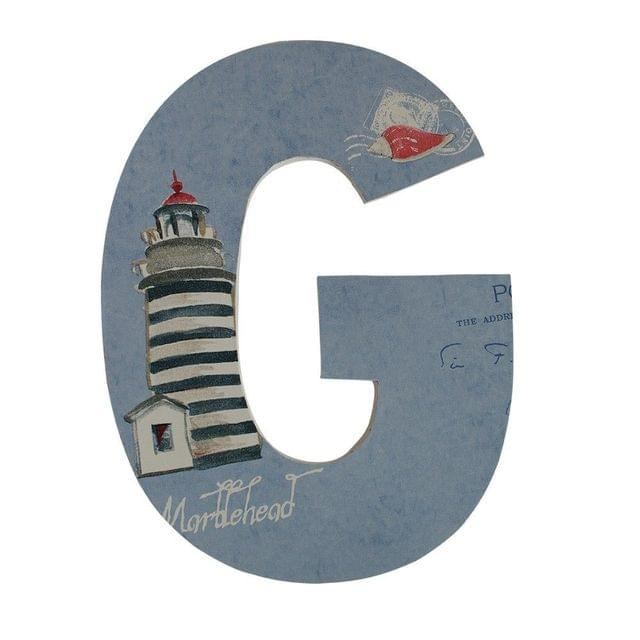 Wooden Alphabet 'G'-Lighthouse