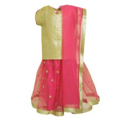 Pink/Gold Lehnga A Little Fable