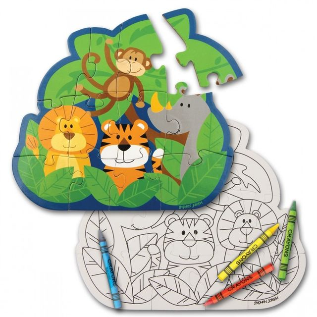 PLAY AND COLOR PUZZLE ZOO  Stephen Joseph