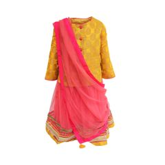 Yellow/Peach Lehnga A Little Fable
