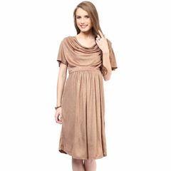 Mamacouture- Maternity Golden Cowl Dress