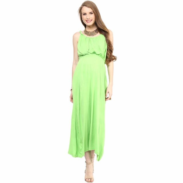 Mamacouture- Green Maxi Maternity Dress