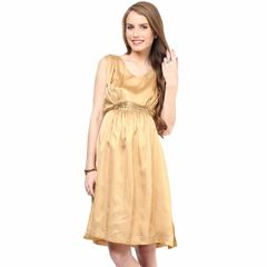 Mamacouture- Golden Sleeveless Maternity Dress
