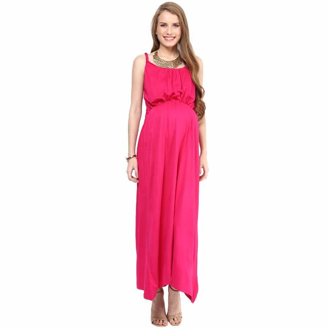 Mamacouture- Pink Maxi Maternity Dress