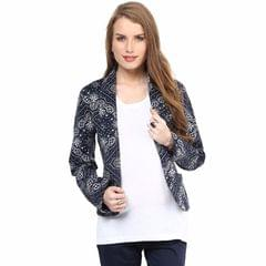Mamacouture- Navy Printed Day Jacket