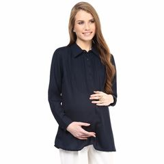 Mamacouture- Must Have Navy Maternity Shirt
