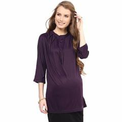 Mamacouture- Must Have Burgundy Maternity Shirt