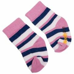 NeedyBee- Purple/white/blue Striped Baby Boy and Baby Girls Cotton Socks