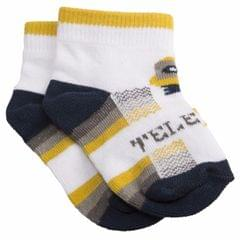 NeedyBee- Baby Boy White Telerobo Short Cotton Socks