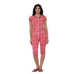 Sweet Dreams- HALF SLEEVE JUMPSUIT - CAPRI LENGTH