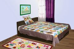BABY OODLES - QUILTED BLANKET / BEDCOVER ALPHABETS THEME(SINGLE)