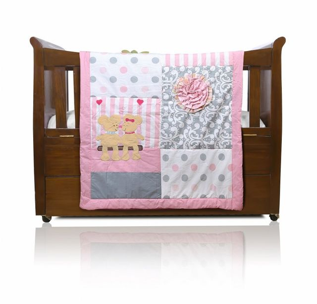 BABY QUILTTEDDY BEARS & ROSE THEME