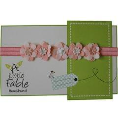 A Little Fable- Peach 3D Flower Headband