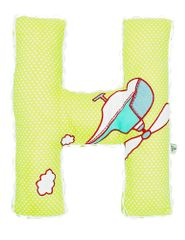A Little Fable - Alphabet Cushion H-GREEN HELICOPTER