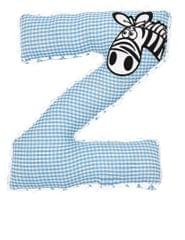 A Little Fable - Alphabet Cushion Z-BLUE ZEBRA