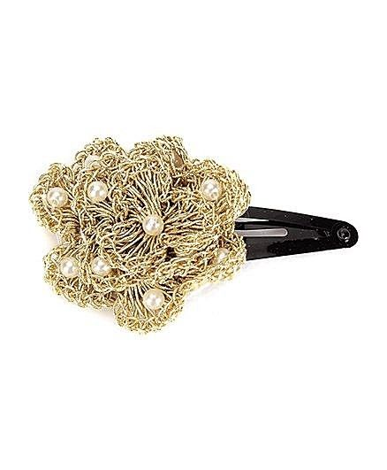 Funkrafts Golden Crochet Pin